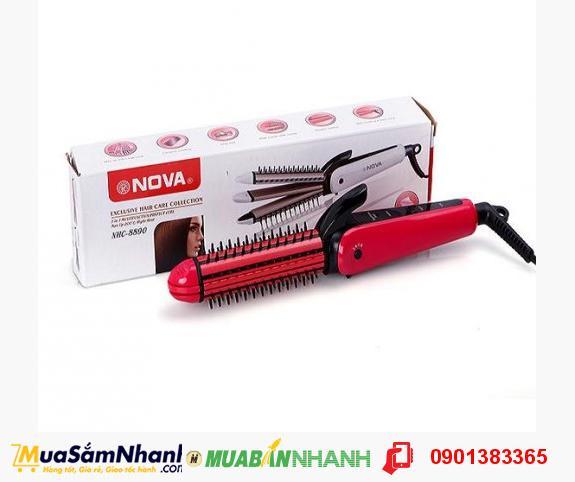 Máy tạo kiểu tóc đa năng 3 trong 1 Nova NHC-8890 (hồng)