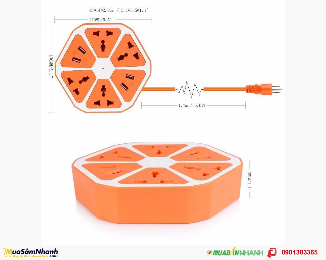 Ổ cắm điện Trái Cam Có Cổng USB- Chịu nhiệt tốt, cách điện cao,an toàn cho người sử dụng.MSN388053