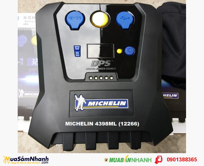 Máy bơm lốp 12V ô tô MICHELIN 4398ML 12266 (Đen), hàng chính hãng - MSN388062