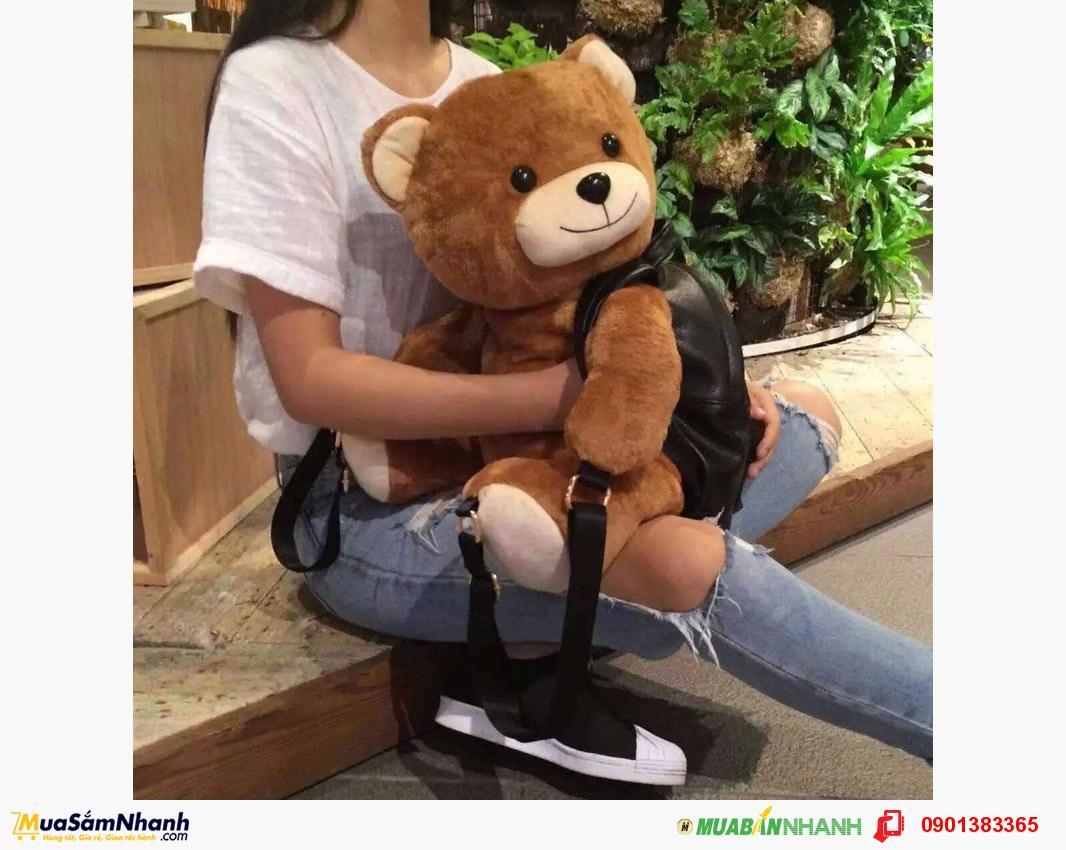 Túi xách balo gấu moschino size lớn cực dễ thương - MSN383116