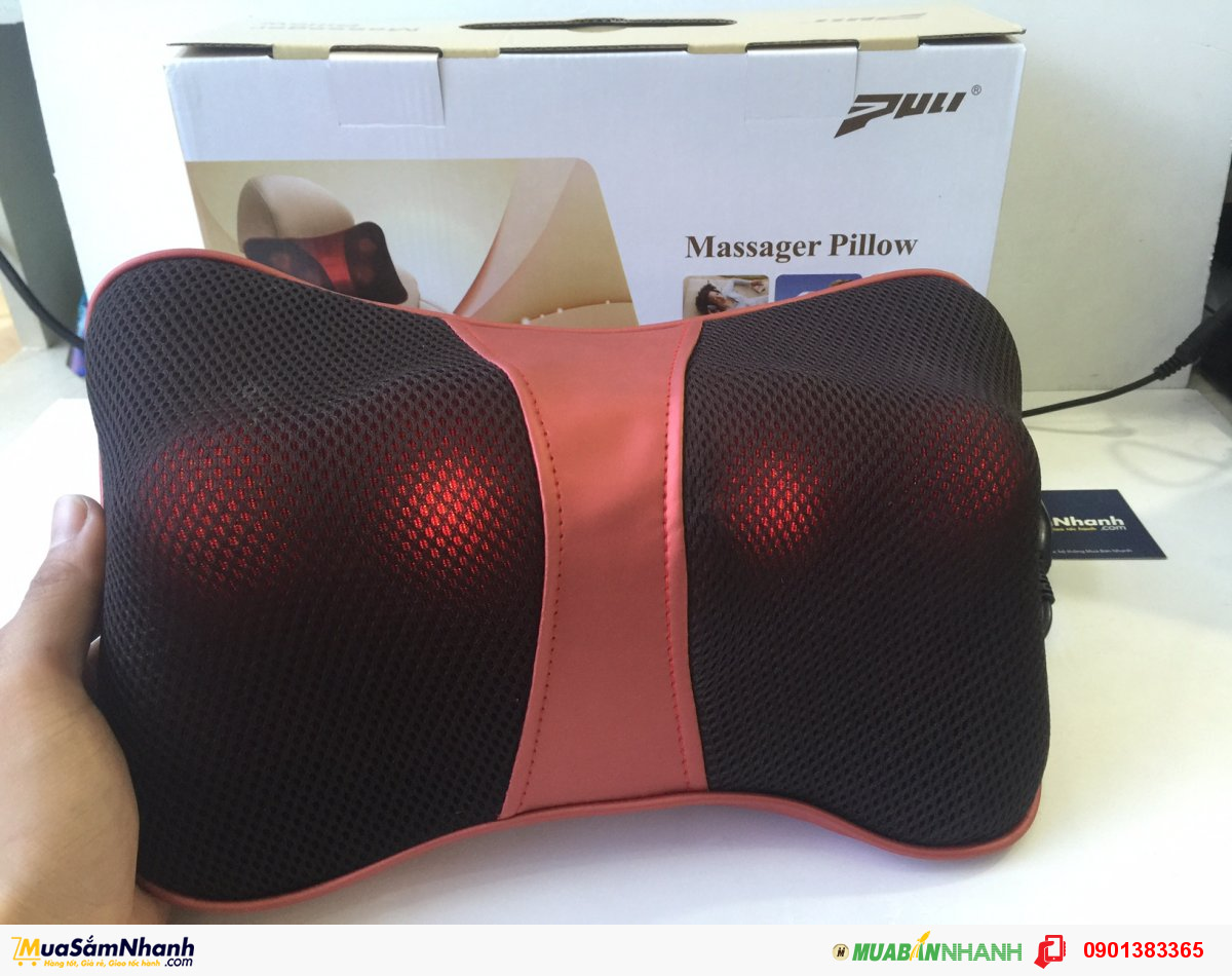 Gối Massage Hồng Ngoại Magic Energy Pillow Puli - MSN383141