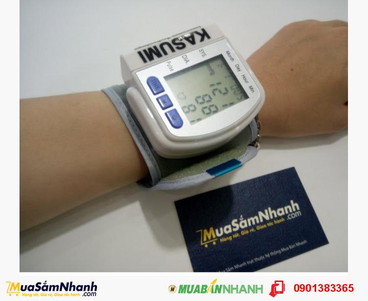Máy đo huyết áp cổ tay KASUMI (TRẮNG) - Đo chính xác, nhỏ gọn, thuận tiện