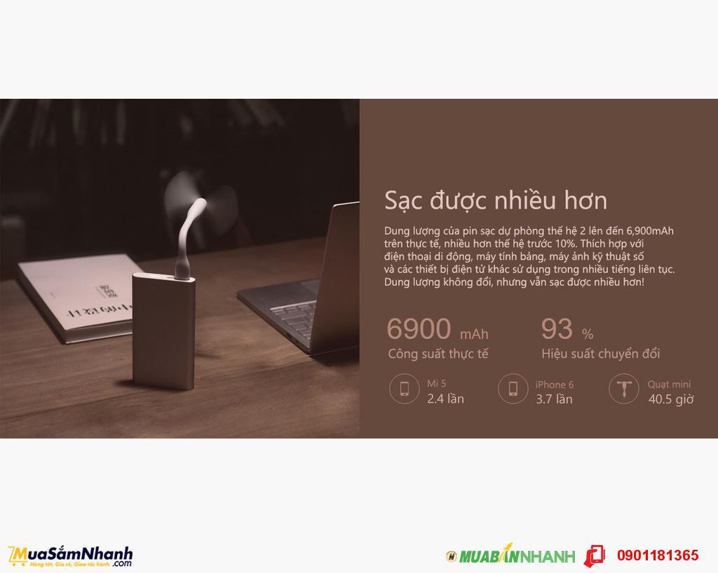 Pin Sạc Dự Phòng Xiaomi Gen 2 Chính Hãng 10000mAh - MSN181089