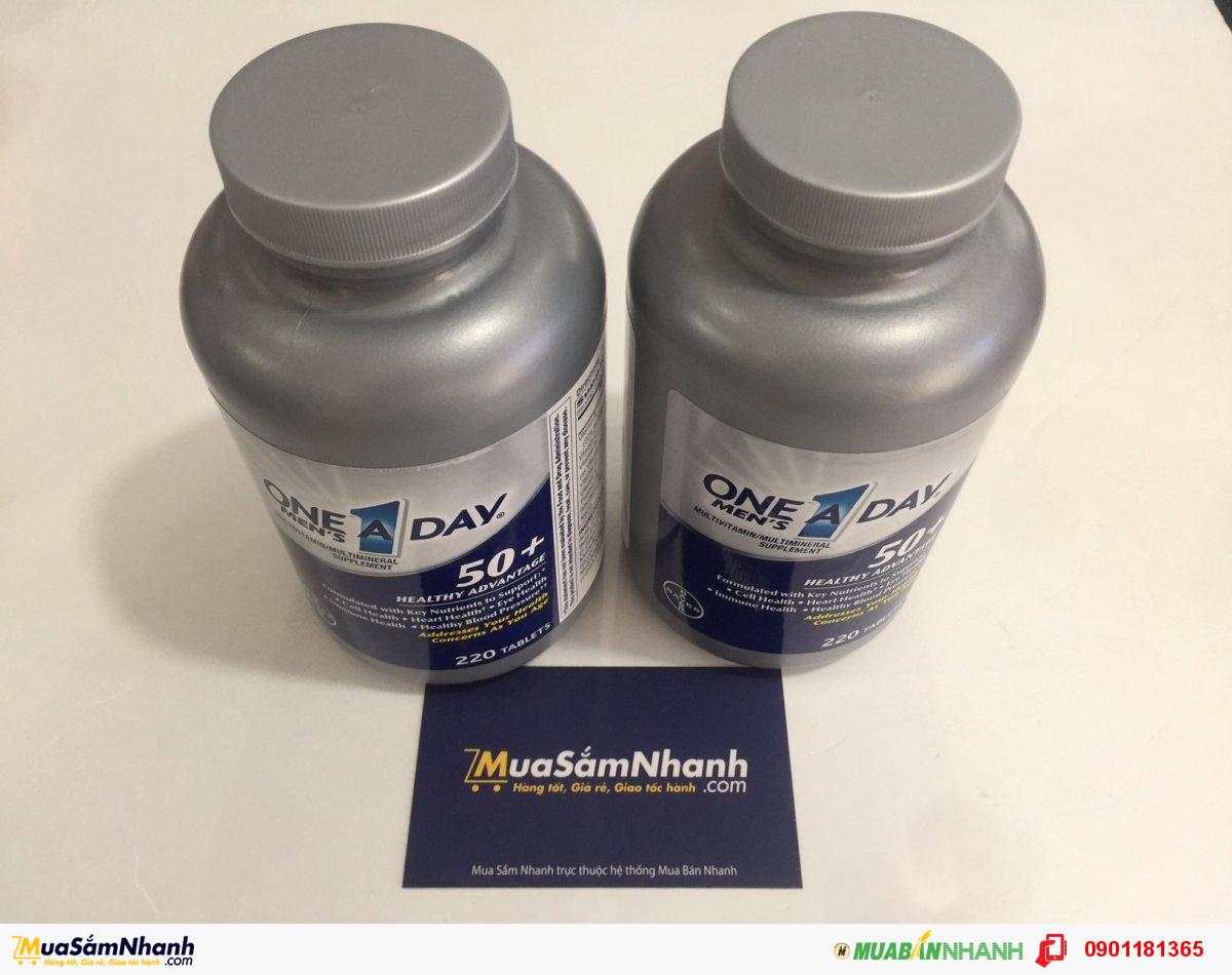 One A Day Men's 50+ Healthy Advantage - Thực Phẩm Chức Năng Bổ Sung Hiệu Quả Các Vitamin Cho Nam Giới Tuổi 50+ - MSN181122
