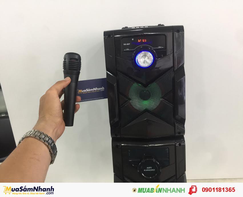 Loa kéo xách tay Bluetooth Speaker RX-S57 Âm Thanh Cực Hay + Tặng Micro + Remote - MSN181147