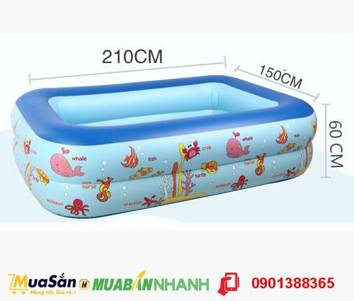 Bể bơi phao trẻ em Swimming Pool Chất Liệu Cao Cấp - Kích Thước 210 x 150 x 60 cm - MSN383189