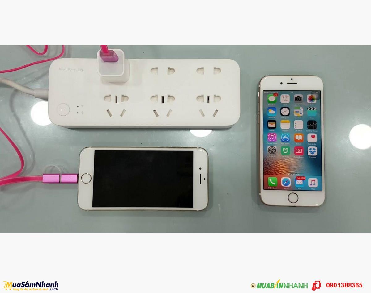 Ổ cắm điện Xiaomi Thông Minh 6 đầu kết nối Wifi Mi Power Strip, Chính Hãng Xiaomi - MSN181149