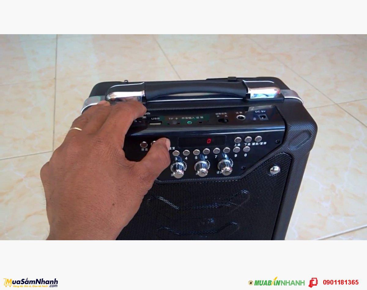 Loa kéo mini Bluetooth DAILE S11, Thích hợp hát rong, quảng cáo, hội nghị, tiệc tùng... - Tặng Kèm Micro không dây - MSN181153