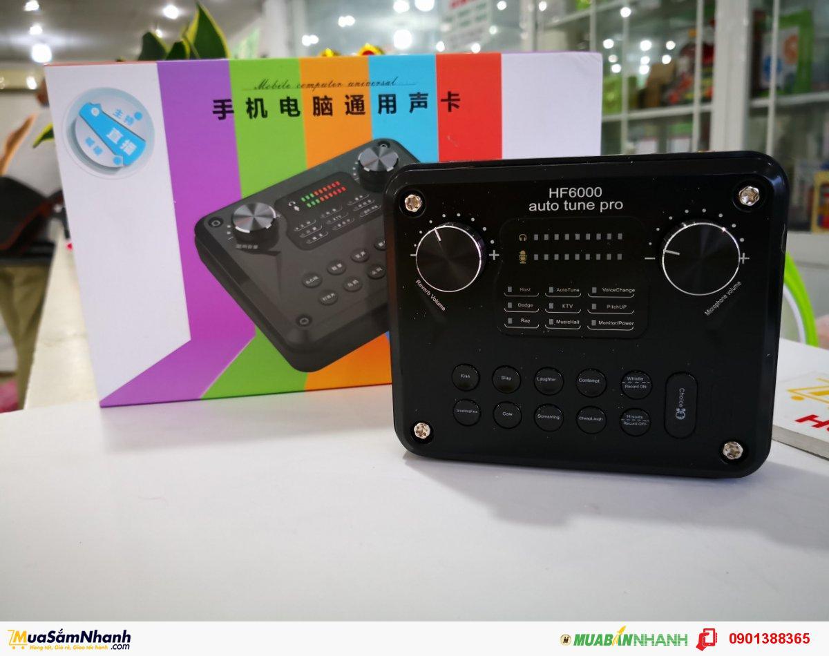 SOUND CARD HF-6000 PRO Hiệu Ứng Đa Dạng Tích Hợp Auto Tune
