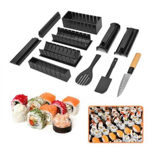 Bộ dụng cụ làm sushi cao cấp 11 món + dao...