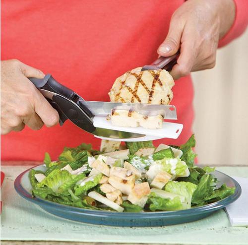 Kéo cắt đồ ăn thông minh kiêm dao thớt