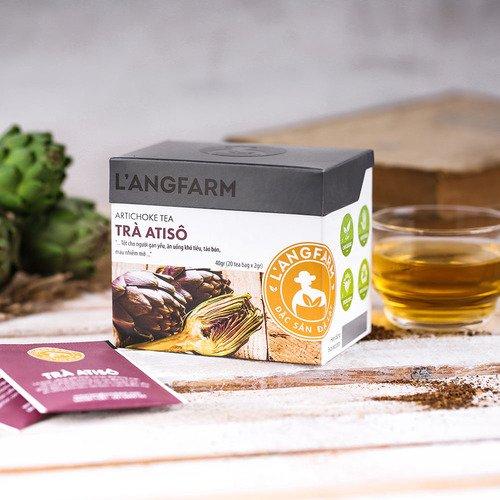 Thưởng thức trà atiso L'angfarm mỗi ngày giúp...
