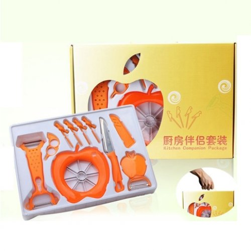 Bộ dụng cụ cắt gọt hoa quả 10 món tiện dụng -...