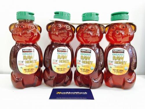 Mật Ong Mỹ chai hình Gấu Kirland 680g Organic...