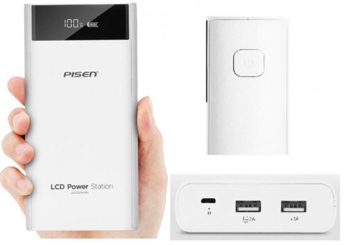 Pin sạc dự phòng 20000mah Pisen LCD Power...