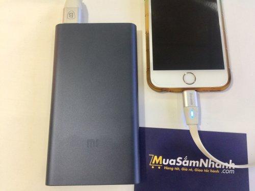 Combo sạc dự phòng Xiaomi Gen 2 10.000mAh + cáp sạc tự ngắt Baseus chính hãng
