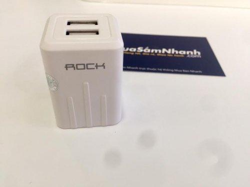 Sạc 2 cổng USB 2.1A Chính Hãng Rock T2 Plus...
