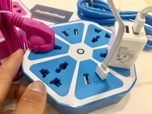 Ổ cắm điện Trái Cam Có Cổng USB- Chịu nhiệt