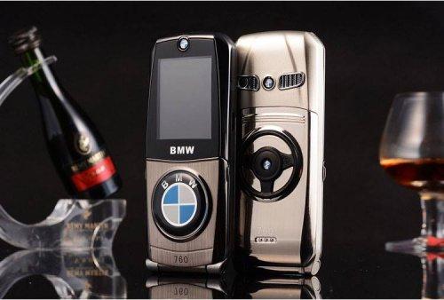 Điện Thoại BMW 760 Sang Trọng  Vỏ thép sáng bóng, chống gỉ sét, trầy xước - 2 sim 2 sóng - MSN388126