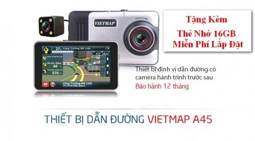 Camera Hành Trình VIETMAP A45 ,Dẫn Đường, Ghi Hình Trước Sau + Tặng Kèm Thẻ Nhớ - MSN388273