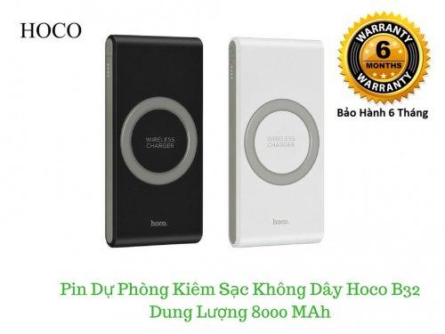 Pin dự phòng hỗ trợ sạc không dây Hoco B32 8000 MAh - MSN181313