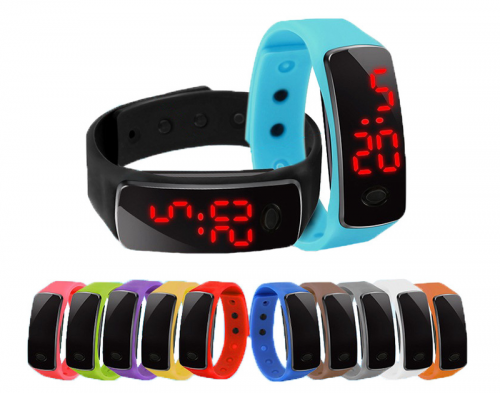 Đồng hồ LED Mặt Kính kiêm vòng tay Thời Trang Cá Tính - MSN1831056