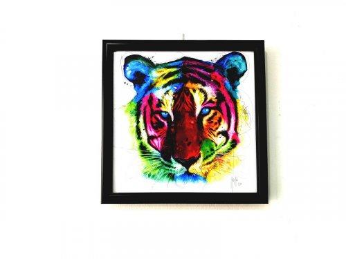 Tranh Trang Trí Treo Tường Rainbow Tiger Kích Thước 30x30 cm - MSN1831074