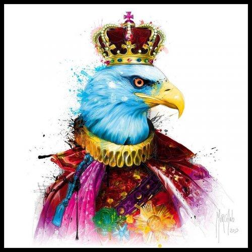 Tranh Trang Trí Treo Tường Rainbow King Eagle Kích Thước 30x30 cm - MSN1831075