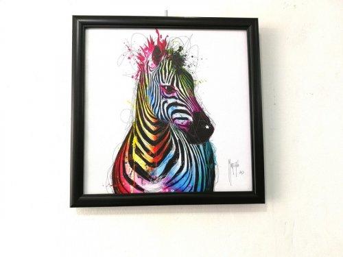 Tranh Trang Trí Treo Tường Rainbow Zebra Kích Thước 30x30 cm - MSN1831077