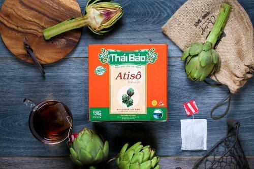 Trà thảo mộc Atiso 100% nguyên chất từ thiên nhiên (60 tép)