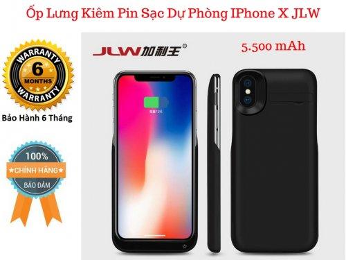Ốp Lưng Kiêm Pin Sạc Dự Phòng IPHONE X JLW-X4, Tự Ngắt Khi Đầy Pin - MSN181327