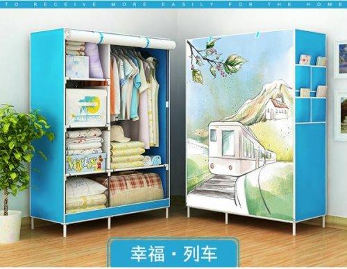 Tủ Vải 3D 2 Buồng 6 Ngăn Kích thước 105x45x170 cm - MSN1831105