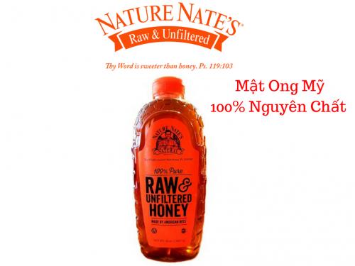 Mật ong thiên nhiên Nature Nate's 100% Pure RAW Honey 1,3 lít - MSN181343