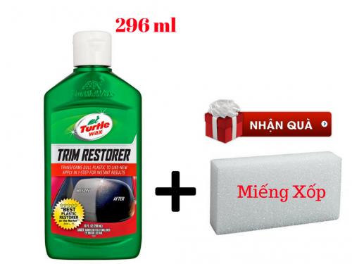 Chai phục hồi nhựa đen nhám Turtle Wax Trim Restorer 296ml Của Mỹ  - MSN388370