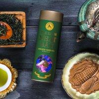 Trà xanh Nhật Bản, dòng gourmet, 90g, hộp, mẫu lon thiếc cao