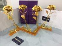 Hoa Hồng 3D Mạ Vàng LOVE