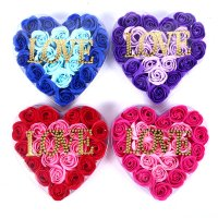 Món quà độc đáo cho bạn gái - Hoa Hồng Sáp Trái Tim Chữ LOVE - MSN383127
