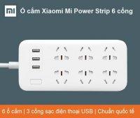 Ổ cắm, Ổ Điện Thông Minh Xiaomi Mi power strip 6 đầu tích hợp 3 USB - MSN181195