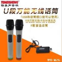 Bộ 2 Micro không dây Temeisheng W-26 hút âm cao, lọc tạp âm tốt và xử lý âm thanh cực chuẩn - MSN181208
