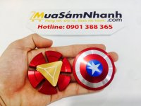 Combo Con quay Spinner Captain America & Spinner Iron Man Kim Loại Cực Đẹp