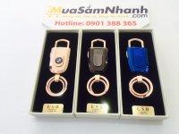 Bật Lửa Sạc Điện Có Móc Khóa USB Lighter, Đốt Cháy Bằng Hồng Ngoại An Toàn Dễ Sử Dụng -  MSN388119