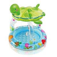 Bể bơi phao mái che hình con rùa intex