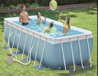 Bể bơi khung kim loại chịu lực 4m chắc không rit sét, có máy lọc INTEX