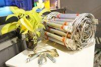Thang nhôm dây cáp xịn chống cháy, có khả năng chịu lực cao ,Tiêu Chuẩn Châu Âu - ES001