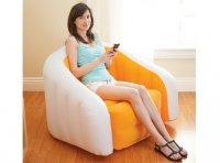 Ghế hơi INTEX hình bánh màu cam