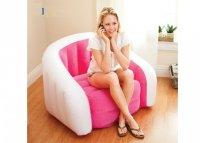 Ghế hơi INTEX hình bánh màu hồng