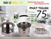 Nồi ủ nhiệt chân không Mẫu Tử 7 Lít làm mềm và nhừ các loại thực phẩm tiết kiệm Nhanh Chóng + Tặng 4 Cốc Inox - MSN383215
