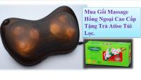 Gối Massage Hồng Ngoại Kasumi - Giảm đau, giảm tình trạng căng cơ + Tặng Trà túi lọc Atiso - MSN383077