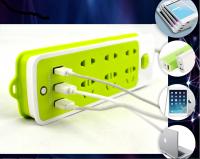 Ổ Điện Đa Năng 2 Trong 1, 6 PHÍCH CẮM, 3 CỔNG USB, Chống Cháy Nổ An Toàn - MSN383239