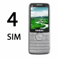 Điện Thoại 4 Sim 4 Sóng 2 Khe Thẻ Nhớ PIN KHỦNG, Điện Thoại GAMMA F1 - MSN181172